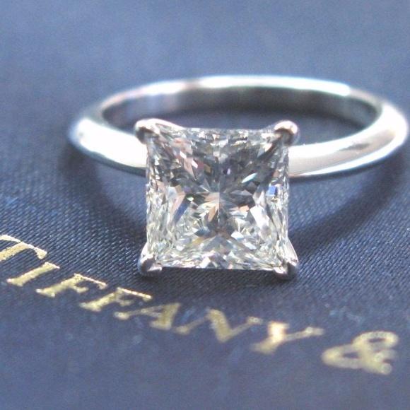 4c733f383 Tiffany & Co. Jewelry | Tiffany Co Platinum Princess Diamond ...
